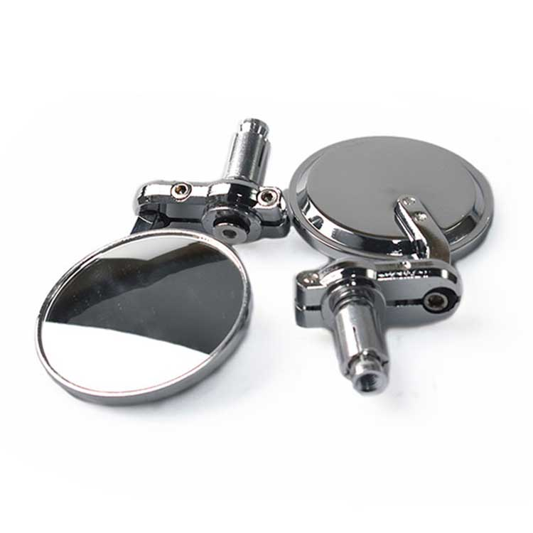 Aluminum Micro Bar End Mirror - Chrome