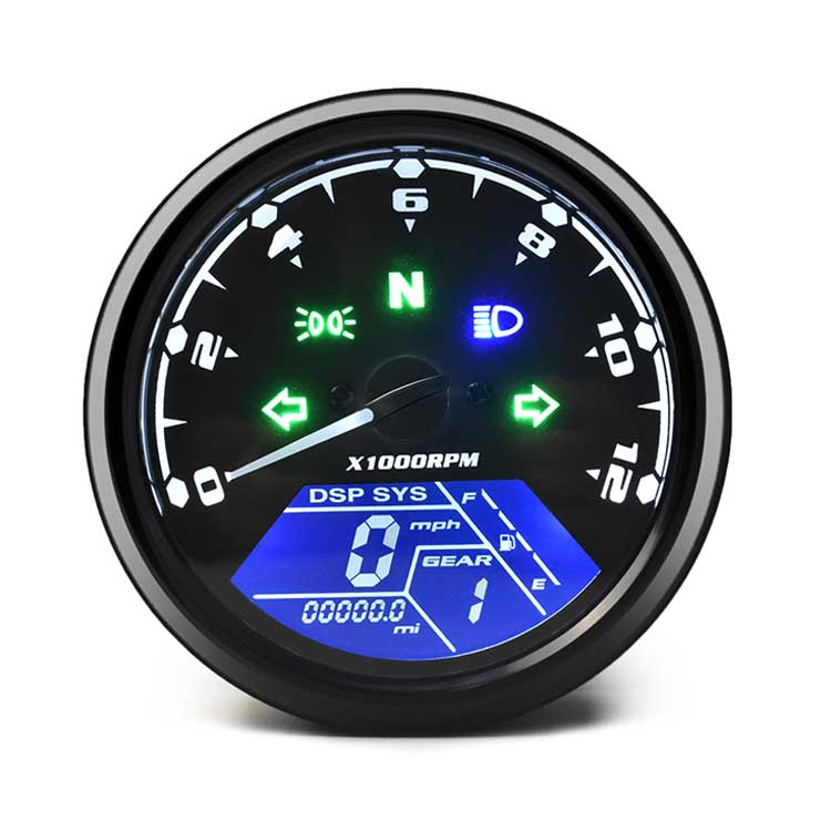 DKMOTORK Multifunctional Digital Motorcycle Speedometer / Tachometer