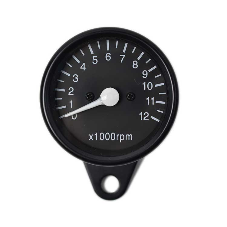 Mechanical 12000RPM Tachometer - Black