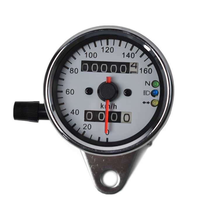 Mechanical Motorcycle Speedometer / Odometer - Chrome