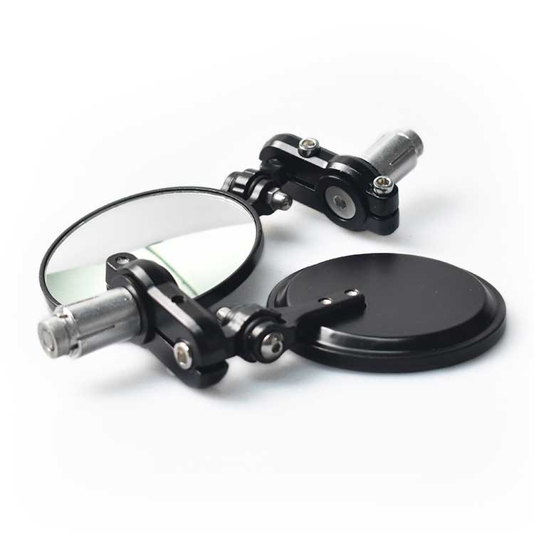 Aluminum Foldable Micro Bar End Mirror - Black