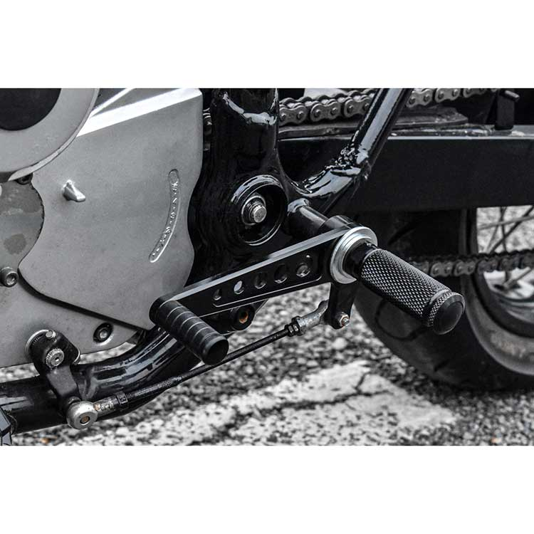 Universal Aluminum Cafe Racer Rear Set - Black