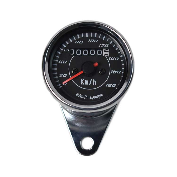 Mechanical 0-180km/h Motorcycle Speedometer - Chrome