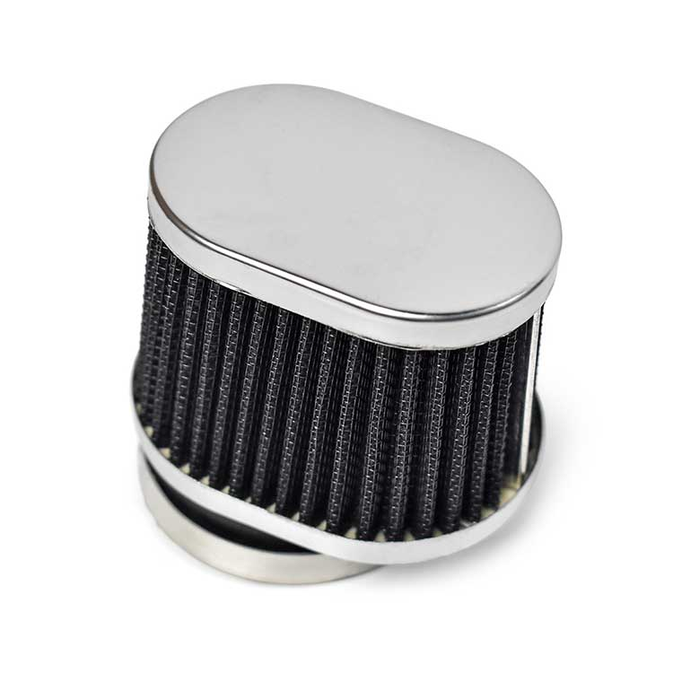 54mm Oval Air Intake Filter - Black