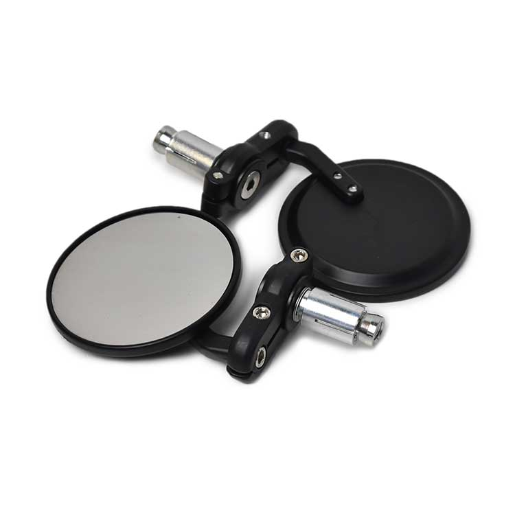 Aluminum Micro Bar End Mirror - Black
